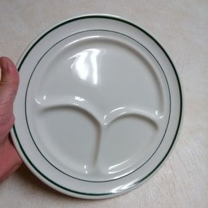 Buffalo China heavy divided plate